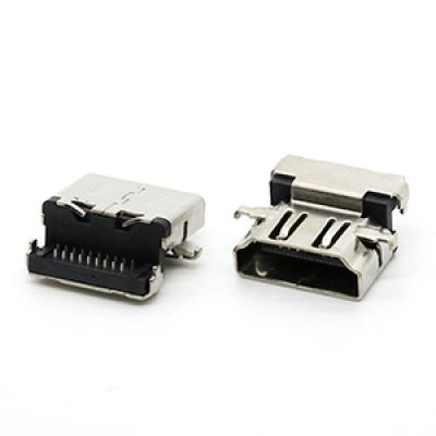 HDMI A Type 19PIN Female Connector H=7.63mm
